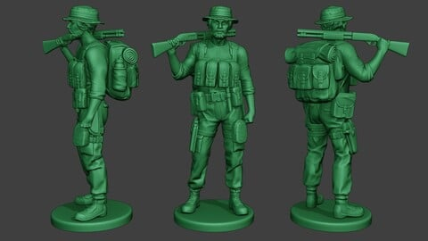 Modern Jungle Soldier Stand2 MJS1