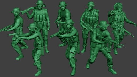 Modern Jungle Soldiers MJS1 Pack 3