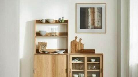 onion Gingerbread Kitchen Glass Cabinet Set