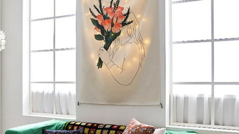Bouquet Fabric Poster / Curtain