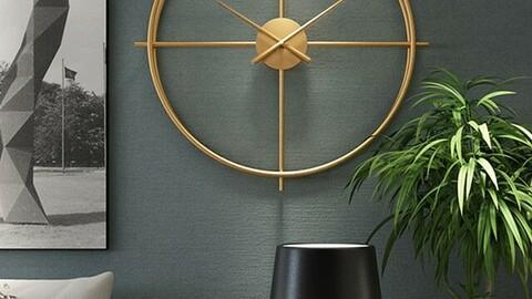 noiseless interior wall clocks