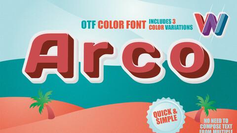 OTF color font - Arco