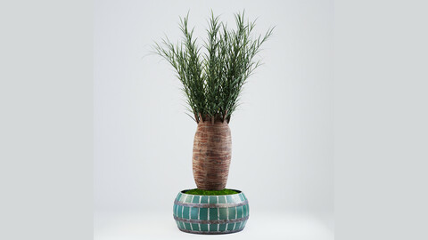 Painted metal vase for Palm