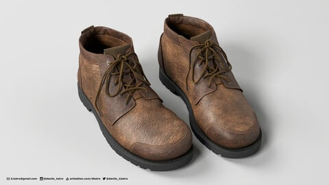Leather Boots | 3D model