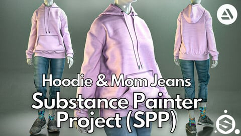 Substance Painter (.SPP) : Hoodie & mom jeans