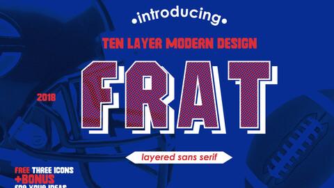 Frat Font - Modern Uppercase Sans Serif