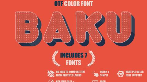 Baku - OTF color font