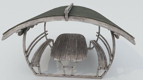 Wooden Old Pergola