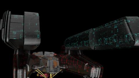 3d alien spaceship s1