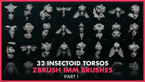 Alien Insectoid Torsos – 32 IMM Brushes Part I