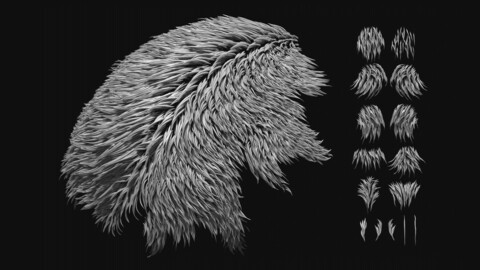 Realistic Fur IMM for ZBrush
