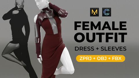 Female outfit  | Marvelous Designer/Clo 3D project