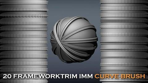 🖼️ 20 Framework Trim IMM Brushes [New] 🔲