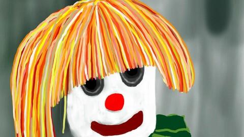 grey clown