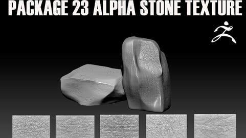 Package 23 ALPHA with stone texture.