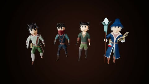Low Poly Fantasy Character Pack