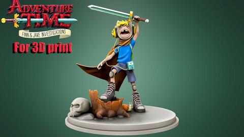 Adventure Time Finn and Jake 3D print model