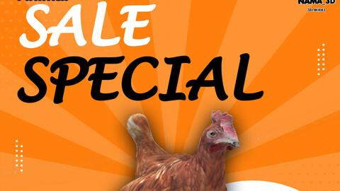 Animal chiken 3d