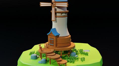 Lowpoly Mill
