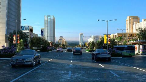 City Highway Street Scenery 01