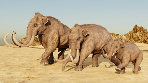 Columbian Mammoth for Blender