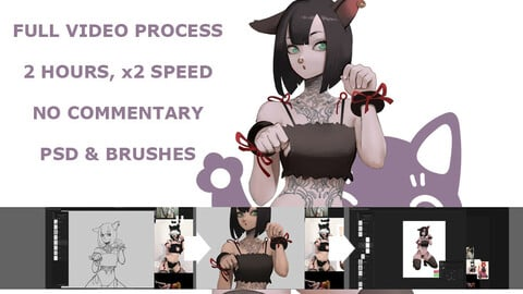 Neko, full video process 2x time speed, 2 hours