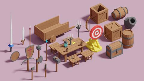 Medieval Props Package 3D model