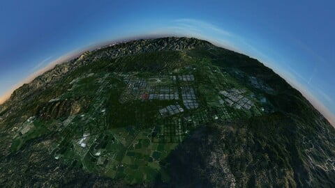 Urban Planning - Aerial View of a Large City