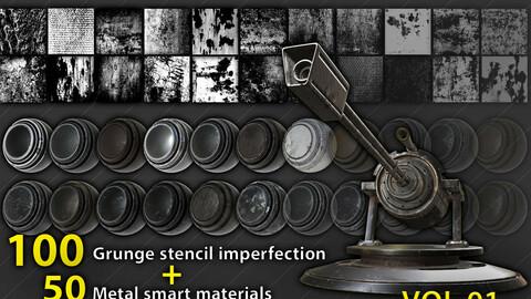stencil & metal smart materials pack
