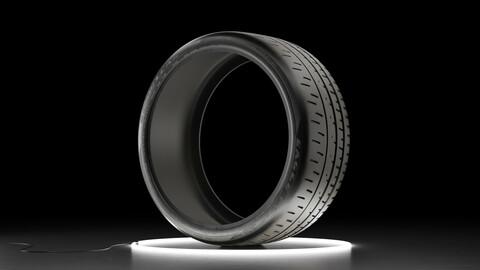 Car tire Bridgestone Eagle F1 SuperCar 3R 3D model