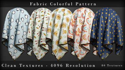 Fabric Colorful Seamless Pattern  Vol 02