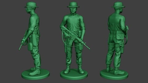 Modern Jungle Soldier Stand3 MJS1