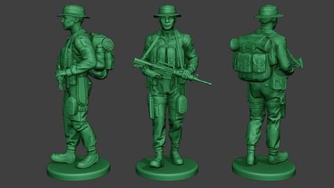 Modern Jungle Soldier Walk MJS1