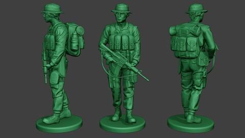 Modern Jungle Soldier Walk2 MJS1