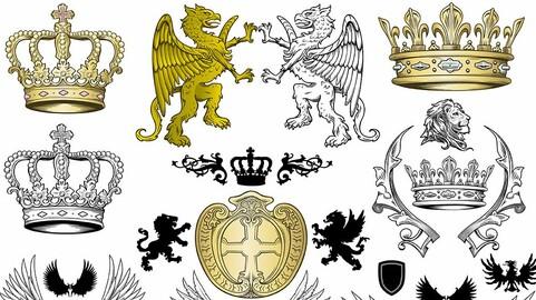 Vector Heraldic Coat of Arms Vol. 1