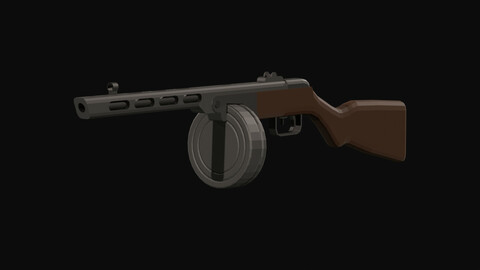 PPSH Low Poly