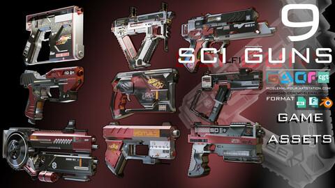 sci-fi guns kitbash (weapons) vol 01
