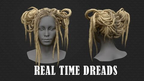 Two buns of dreads