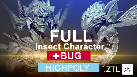 FULL Insect Character & Bug - [HIGHPOLY] (creature/monster)