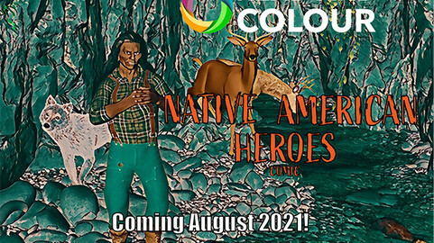 Read and Colour: Native American Heroes Comic