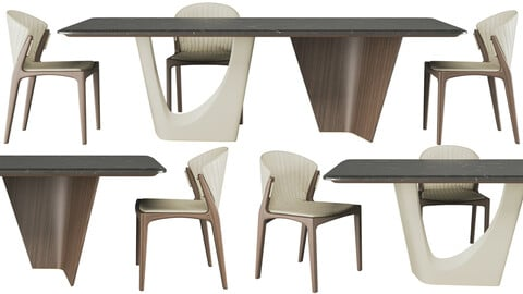 Pinnacle table And Luisa chair