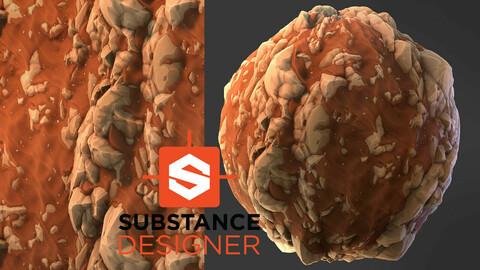 Stylized Desert Rock - Substance Designer