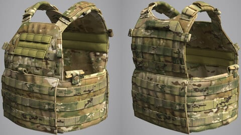 Military Bulletproof Plate Carrier Vest LBT 6094 (Marvelous Designer / Clo 3D project)
