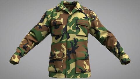 Military Jacket (BDU Battle Dress Uniform)  (Marvelous Designer / Clo 3D project)