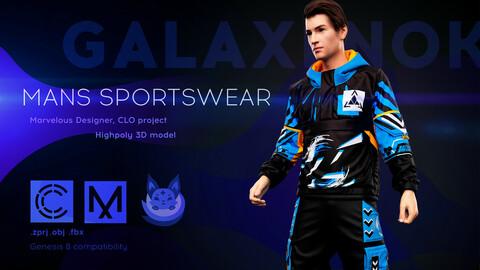 Mans sportswear. Avatar genesis 8 Male. Marvelous Designer, Clo3d project. 4K PBR Textures. .OBJ.FBX files