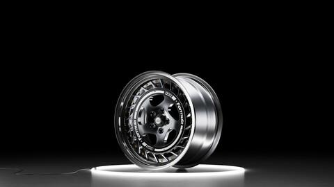 SSR Formula Aero Spoke Car wheel 3D model