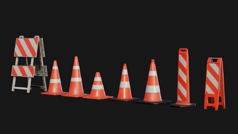 Traffic Cones 3D model Pack