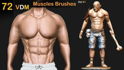 72 VDM Muscles Brushes  _Vol 01