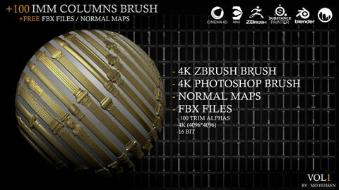 4k Classic Column Brushes