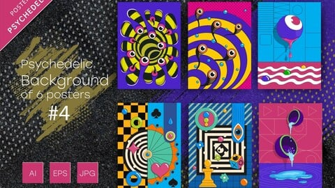 Psychedelic abstract backgrounds #4